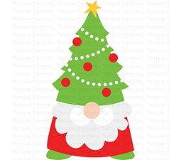 Christmas Tree Hat Gnome SVG