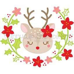 Reindeer Laurel SVG