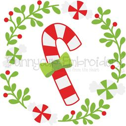 Candy Cane Laurel SVG