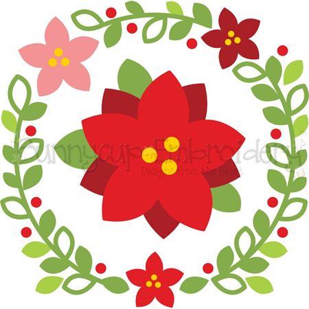 Poinsettia Laurel SVG