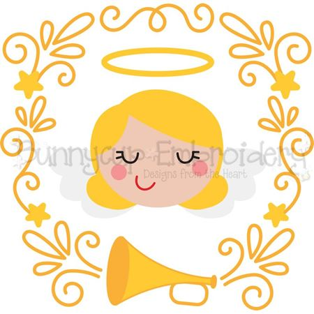 Angel Laurel SVG