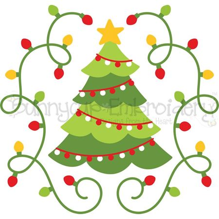 Christmas Tree Laurel SVG