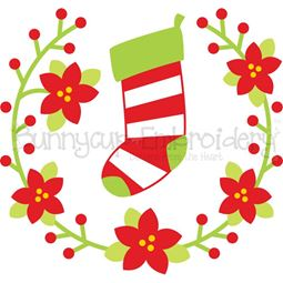 Christmas Stocking Laurel SVG