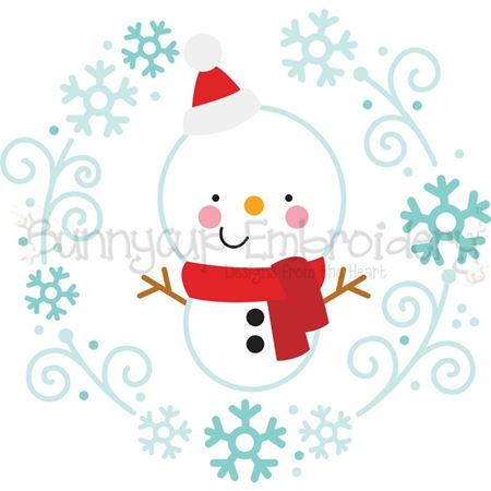 Snowman Laurel SVG