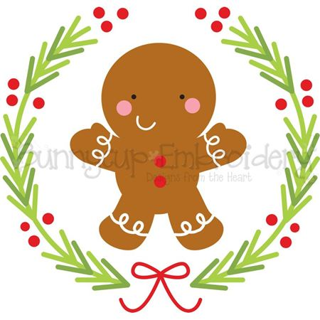 Gingerbread Man Laurel SVG