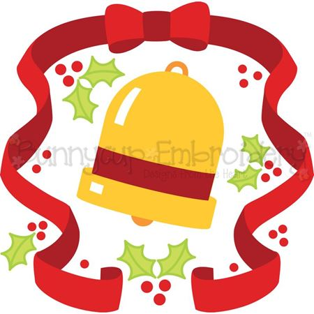 Christmas Bell Laurel SVG
