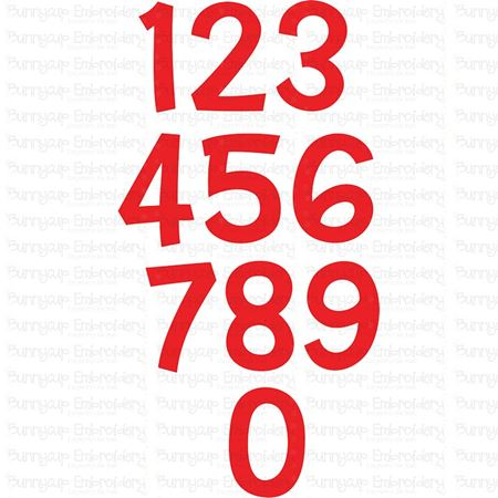 Set of Numbers SVG