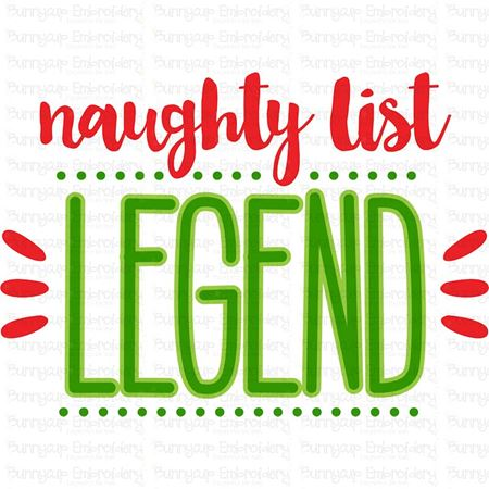 Naughty List Legend SVG