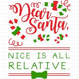 Dear Santa Nice Is All Relative SVG