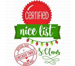 Certified Nice List SVG