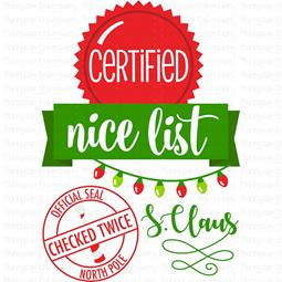 Certified Nice List SVG