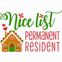 Nice List Permanent Resident SVG