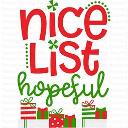 Nice List Hopeful SVG