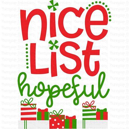 Nice List Hopeful SVG