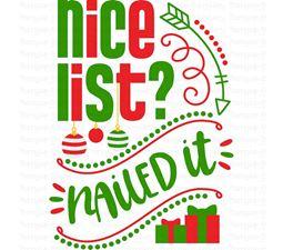 Nice List Nailed It SVG