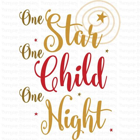 One Star One Child One Night SVG