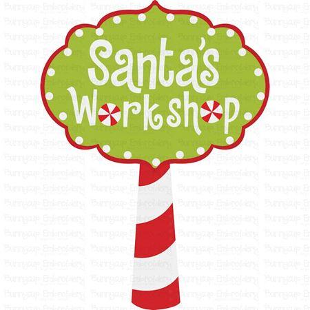 Santa's Workshop Sign SVG