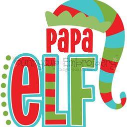 Papa Elf SVG