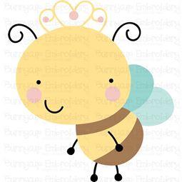 Cute Queen Bee SVG