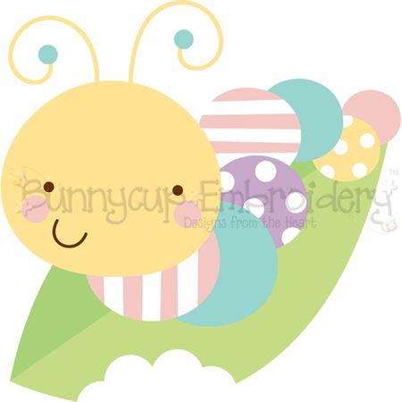Caterpillar on Leaf SVG