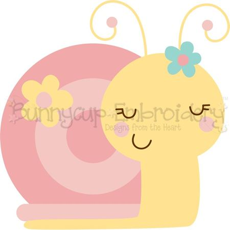 Girl Snail SVG