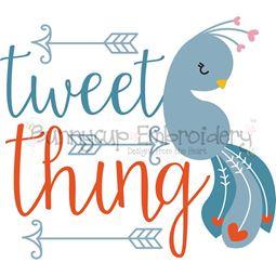 Tweet Think Peacock SVG