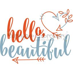 Hello Beautiful SVG