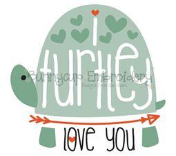 I Turtley Love You SVG
