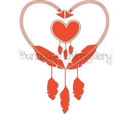 Native American Feather Heart SVG