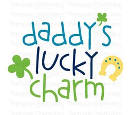 Daddys Lucky Charm SVG
