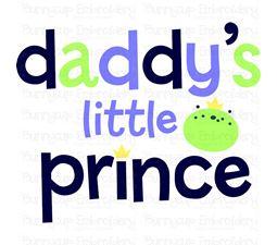 Daddys Little Prince SVG