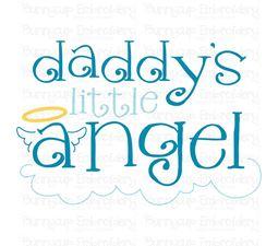 Daddys Little Angel SVG