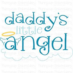 Daddys Little Angel SVG