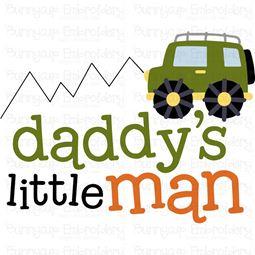 Daddys Little Man SVG