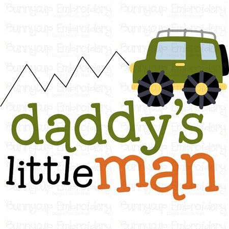 Daddys Little Man SVG