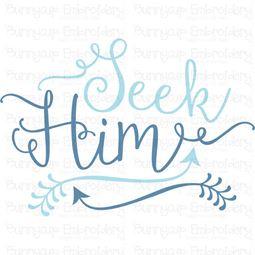 Seek Him SVG