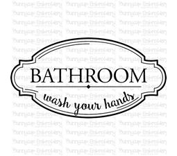 Bathroom Wash Your Hands SVG