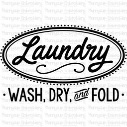 Retro Laundry Wash Fold And Dry SVG