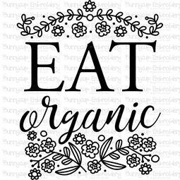 Eat Organic SVG