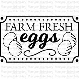 Farm Fresh Eggs SVG