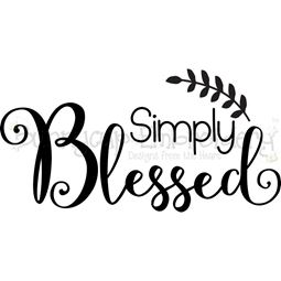 Simply Blessed SVG