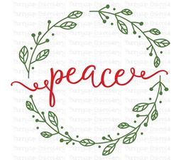 Peace Wreath SVG
