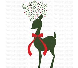 Christmas Deer Silhouette SVG