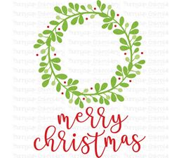 Merry Christmas Wreath SVG