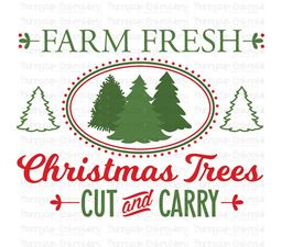 Farm Fresh Christmas Trees SVG