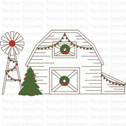 Vintage Farm Barn SVG