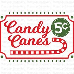 Candy Canes 5c SVG