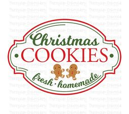 Christmas Cookies Fresh Homemade SVG
