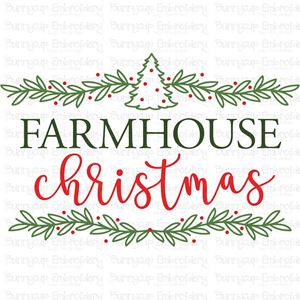 Farmhouse Christmas Svg Svg Designs Bunnycup Embroidery