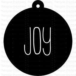 Joy Farmhouse Christmas Gift Tag SVG